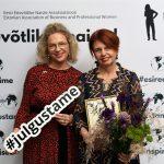 EENA president Ester Eomois ja aasta naine 2020 Irja Lutsar